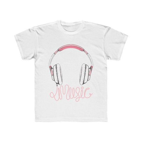 Girls Headphone Kids Regular Fit Tee
