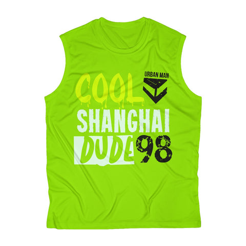 Cool Shanghai  Dude Men's Sleeveless Performance Tee