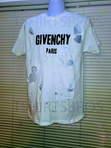 GIVENCHY WHITE DISTRESSED (REPLICA) - Tshirtsbros