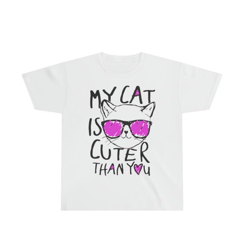 My Cat Is Cuter Than You Youth Ultra Cotton Tee