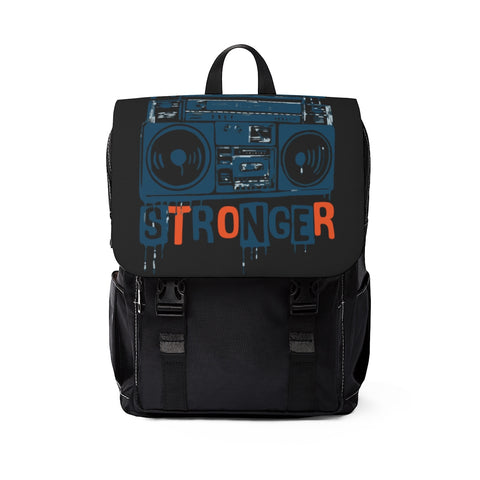 Music Makes Me Stronger Casual Shoulder Backpack
