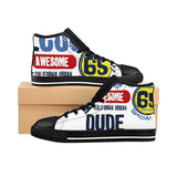Super Cool Dude Men's High-top Sneakers - Tshirtsbros