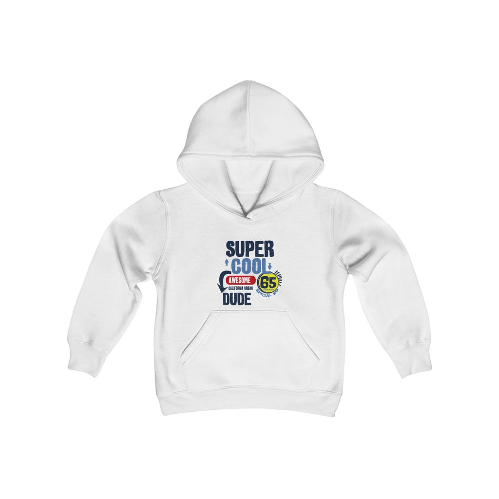 Super Cool Dude Kids Heavy Blend Hooded Sweatshirt - Tshirtsbros