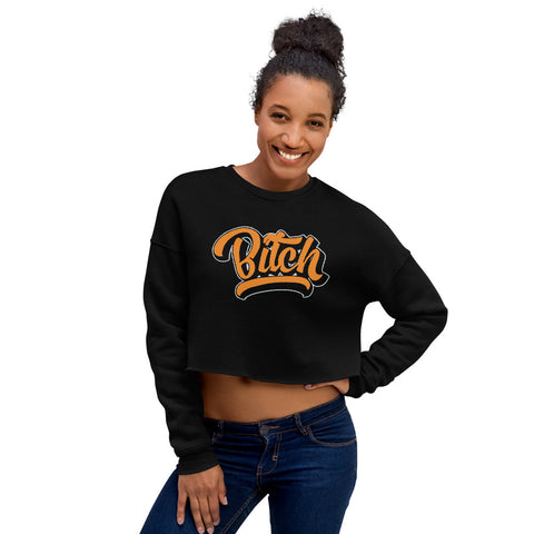 Bitch Logo Crop Sweatshirt