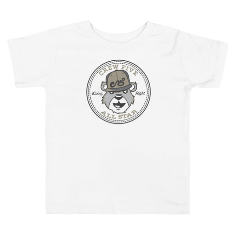 Crew Five Toddler Short Sleeve Tee with Tear Away Label