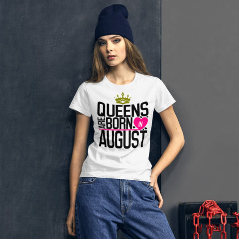 Queens Are Born In August Women's short sleeve t-shirt - Tshirtsbros