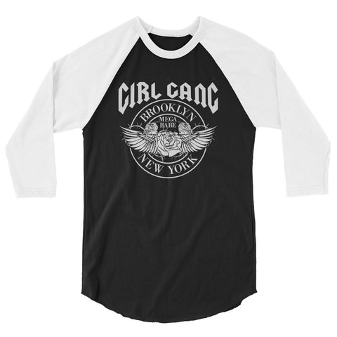 Girl Gang 3/4 sleeve raglan shirt