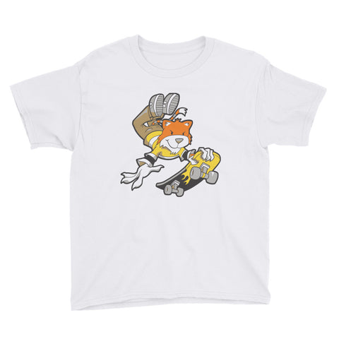 Skate Cat Youth Short Sleeve T-Shirt