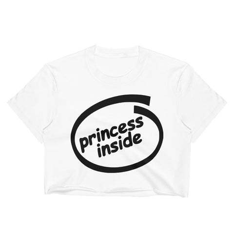 Princess Inside Women's Crop Top - Tshirtsbros