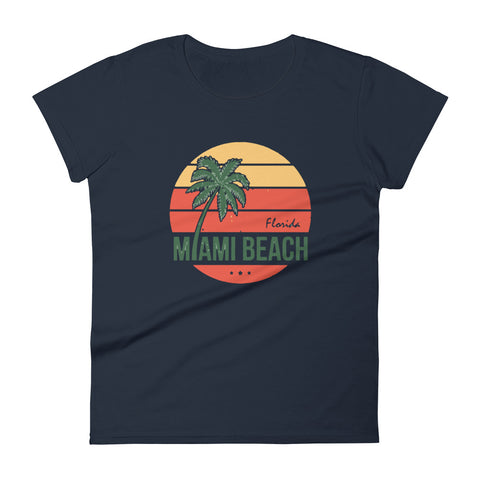 Miami Beach Women's short sleeve t-shirt - Tshirtsbros