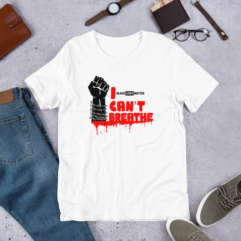 I Cant Breathe Short-Sleeve Unisex T-Shirt - Tshirtsbros