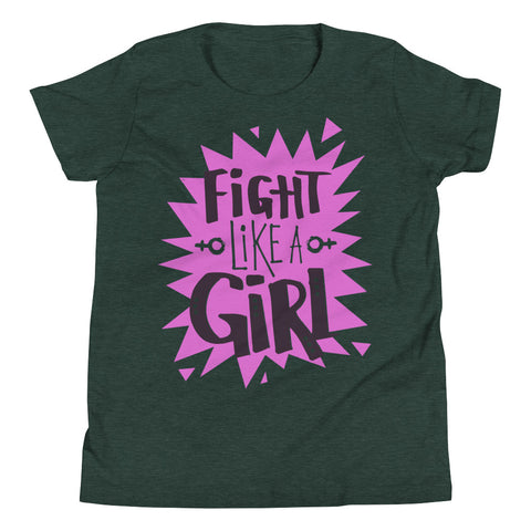 Fight Like A Girl Youth Short Sleeve T-Shirt