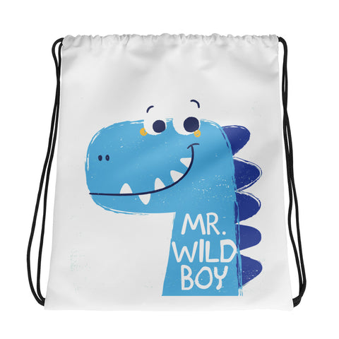 My Wild Boy Drawstring bag