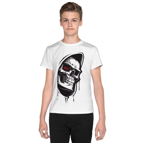 Hood Skull Youth T-Shirt - Tshirtsbros