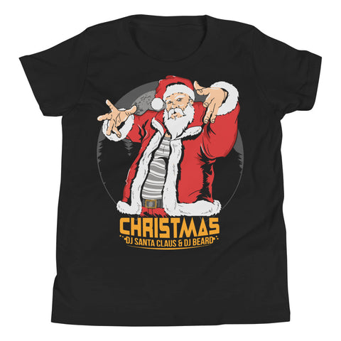 Dj Santa Youth Short Sleeve T-Shirt - Tshirtsbros