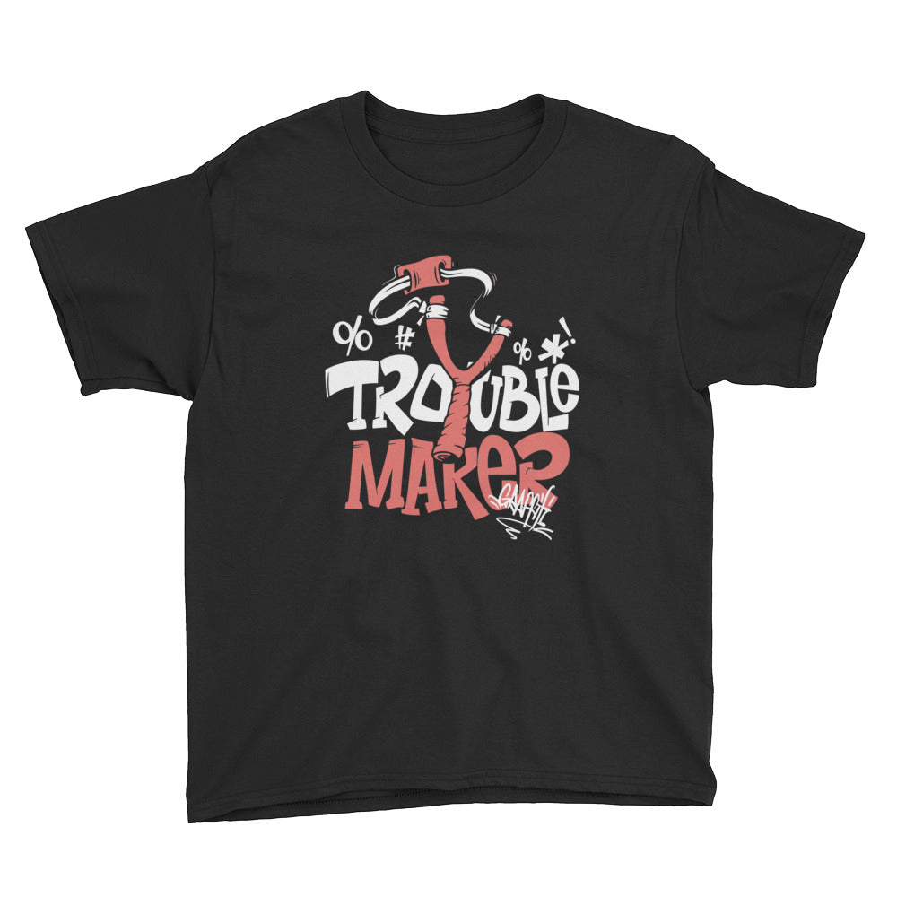 Trouble Maker Youth Short Sleeve T-Shirt - Tshirtsbros