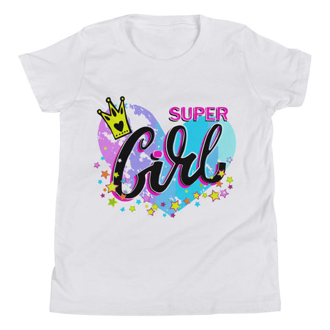 Super Girl Youth Short Sleeve T-Shirt