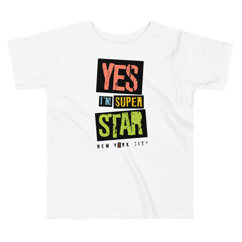 Yes Im A Super Star Toddler Short Sleeve Tee