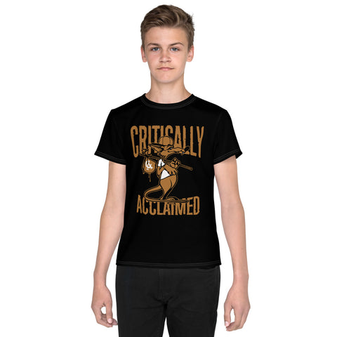 Critically Acclaimed  Large Print Youth T-Shirt