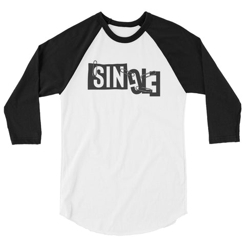 Single Womens 3/4 sleeve raglan shirt
