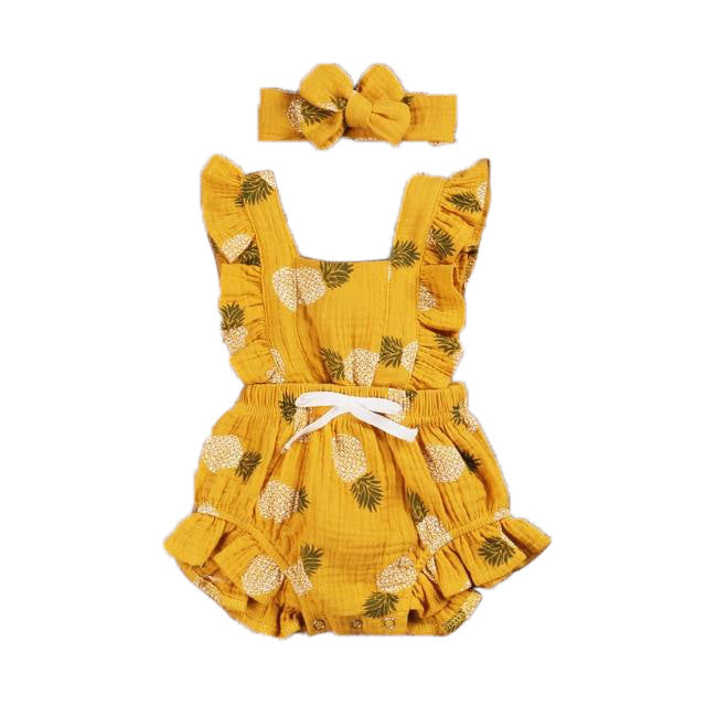 Grace Romper. - Yellow Pineapple