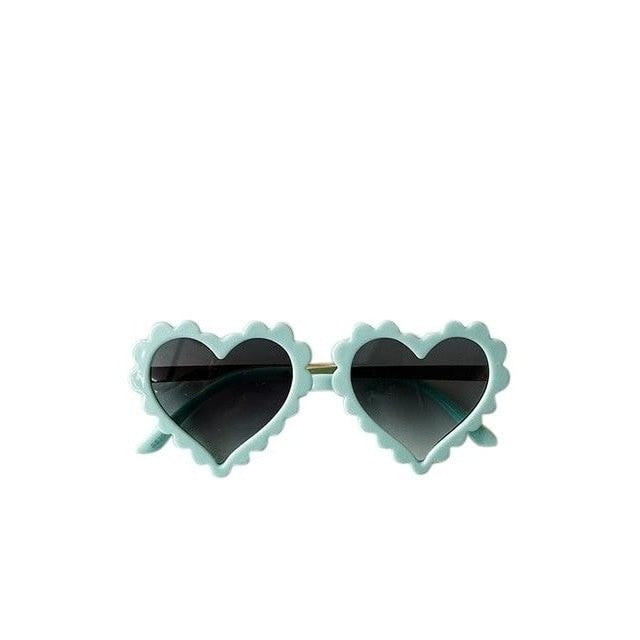 Heart Sunglasses - Aqua