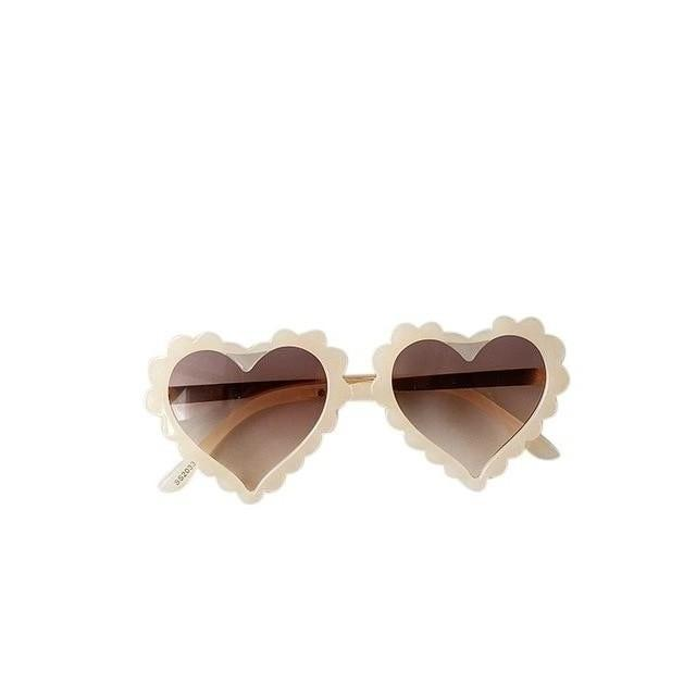 Heart Sunglasses - Cream