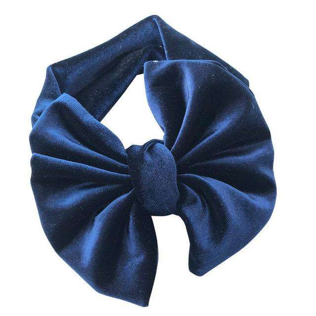 Big Bow Headband - Blue