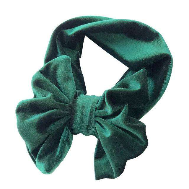 Big Bow Headband - Green
