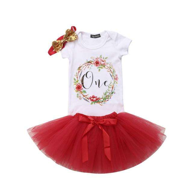 Birthday Tutu Set - Red