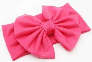 Bow Headband - Dark Pink