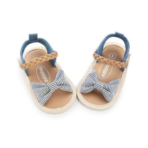 Bow Sandals - Stripe