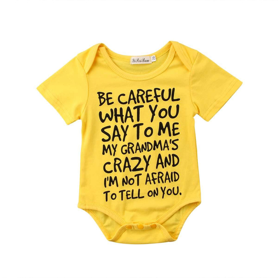 Crazy Grandma Bodysuit - Yellow