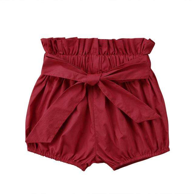 Crumple Shorts - Red