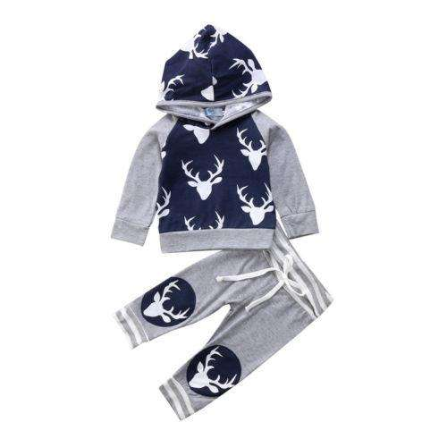 Deer Patch Hoodie Set