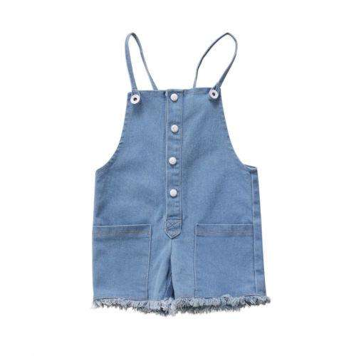 Denim Button Overalls