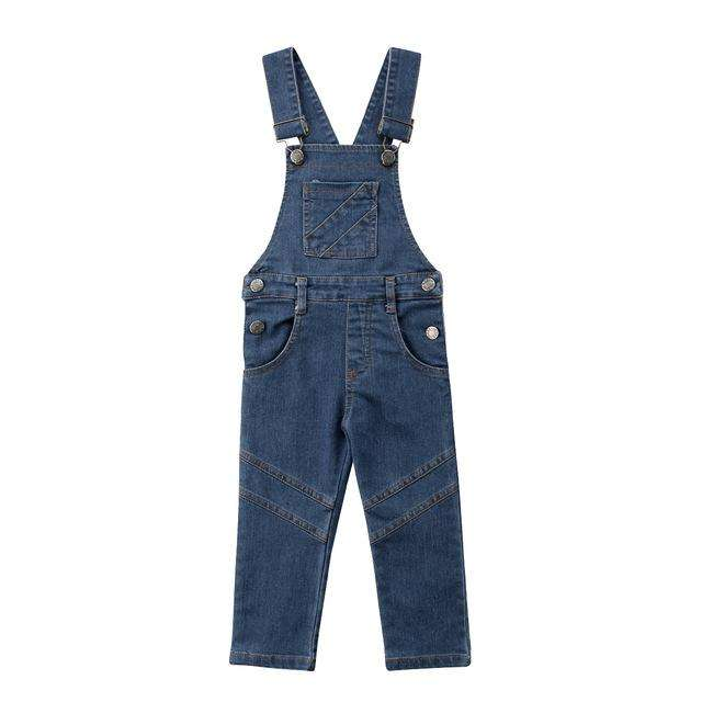 Denim Long Overalls - Blue