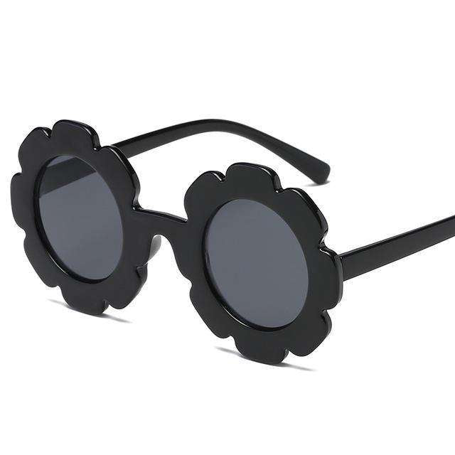 Flower Sunglasses - Black