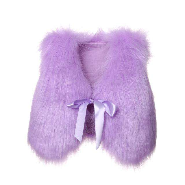 Fluffy Vest - Purple