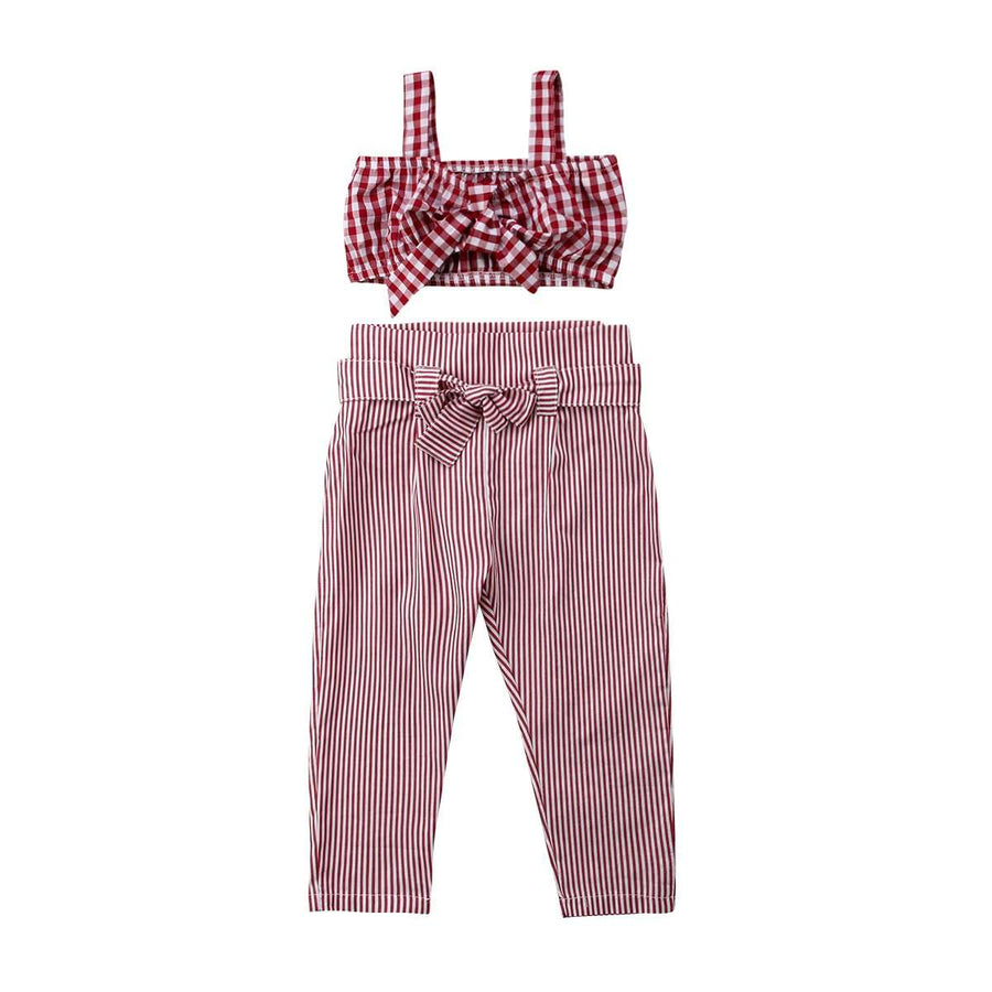 Gingham Crop Set
