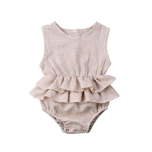 Giselle Romper - Cream Stripe