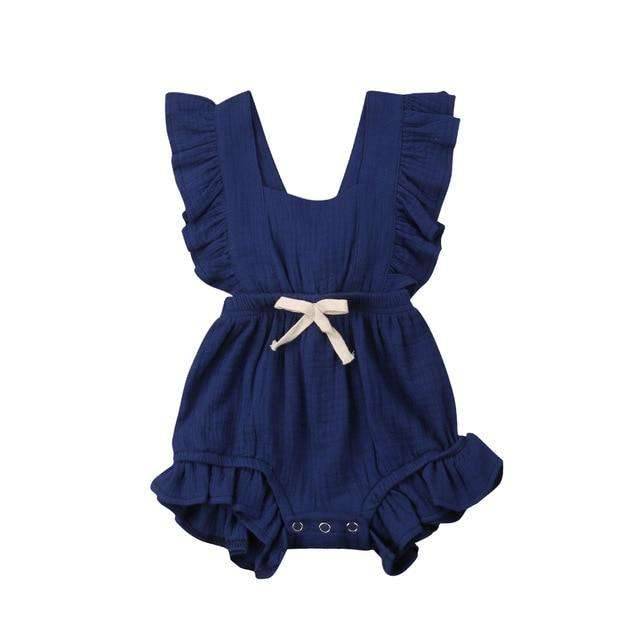 Grace Romper - Navy
