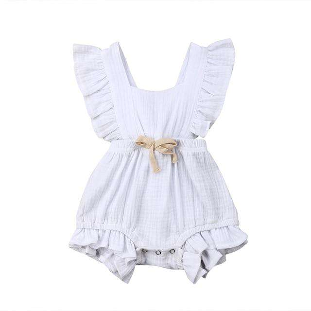 Grace Romper - White