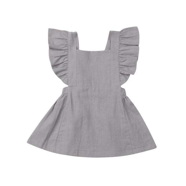 Pinny Dress - Grey