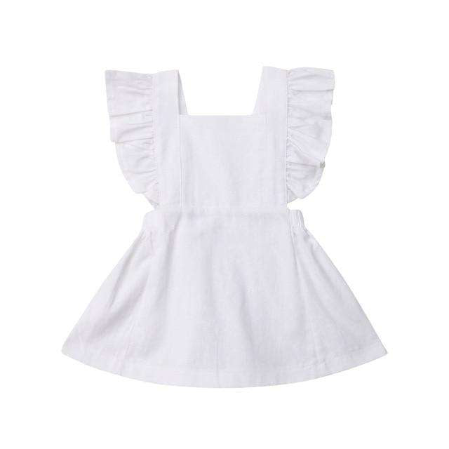 Pinny Dress - White