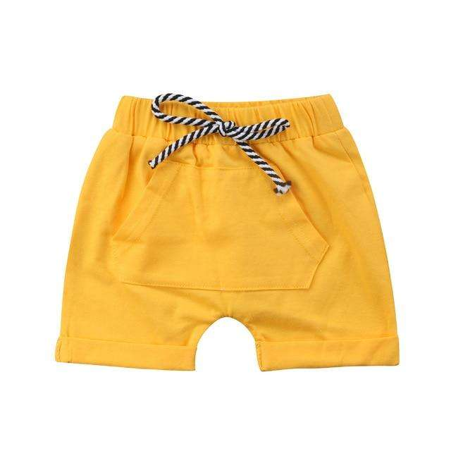 Pocket Shorts - Yellow