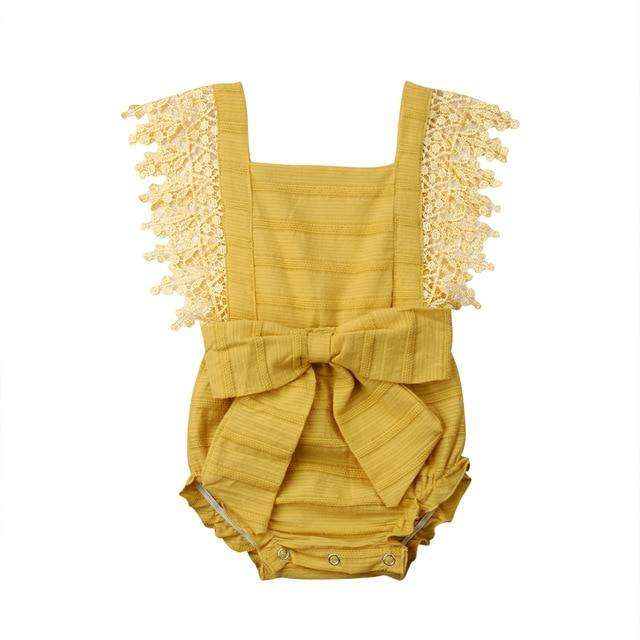 Polly Romper - Yellow