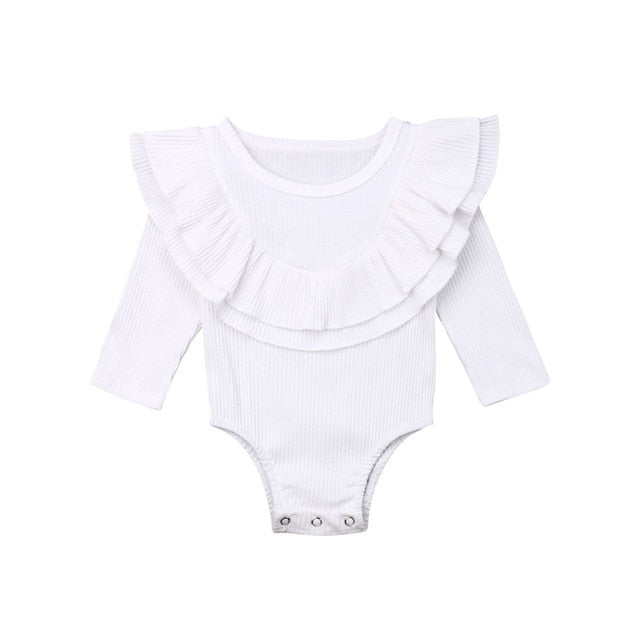 Collar Bodysuit - White