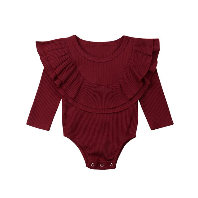 Collar Bodysuit - Burgundy