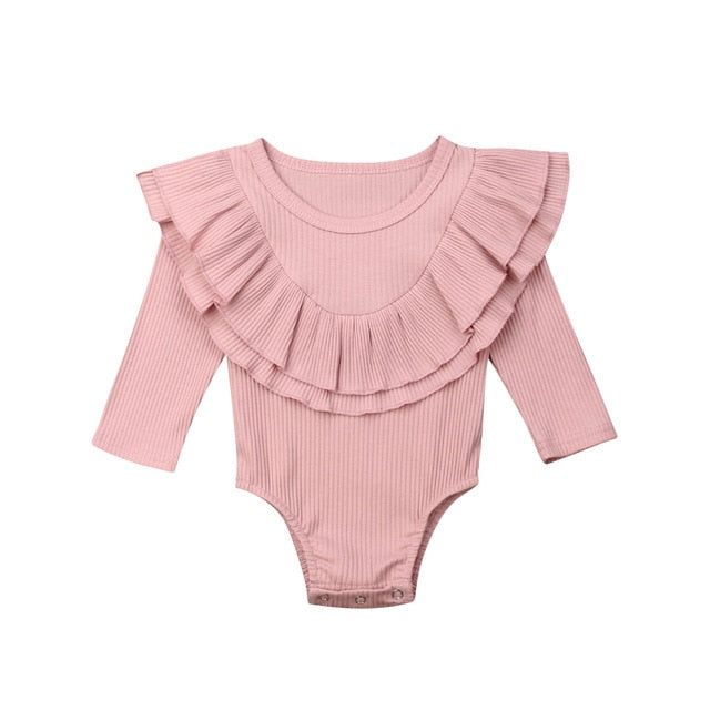 Collar Bodysuit - Pink